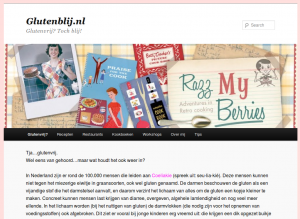 Screenshot van de website Glutenblij.nl