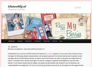 Screenshot van de website Glutenblij.nl