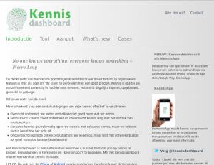 Screenshot van de website info.kennisdashboard.nl.