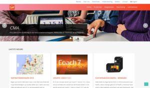 Screenshot van de homepage van cma-science.nl