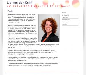Screenshot van de website liavanderknijff.nl